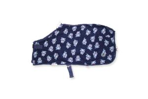 Centaur Pony Froggie Fleece Cooler in Navy and Silver