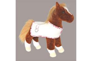 Dido Chestnut Horse with Cream Blanket