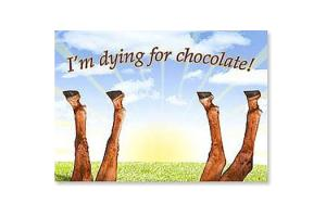 I'm Dying for Chocolate Horse Magnet