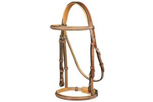 Pessoa Tobacco Legacy Padded Fancy Stitch Bridle with Reins
