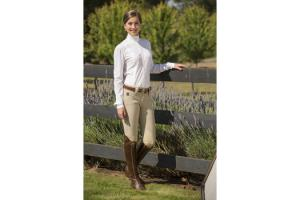 FITS Kate Knee Patch Breeches in Tan