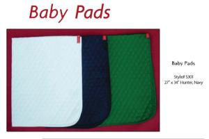 Franconia International Quilted Baby Pads Hunter Green 3 Pack