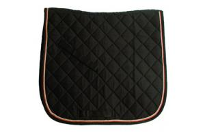 Rambo Grand Prix Show Dressage Saddle Pad in Black and Tan