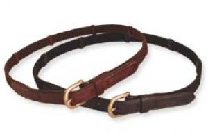 Leather & Leather & Web Reins Belt-Brown