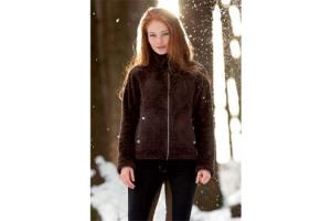 Horseware Fitted Softie Fleece Jacket in Brown