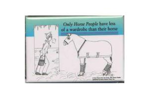 Horse Peoples Wardrobe Magnet