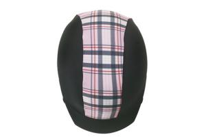 Zocks Helmet Cover Light Pink Plaid Stripe 1128