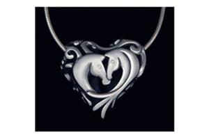 Entwined Horses Necklace