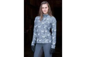 Kerrits Unbridled Half Zip Turtleneck in Silver
