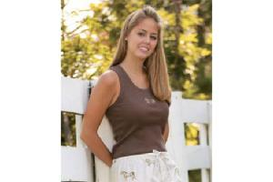Hit the Hay Tank Top Shirt in Chocolate Brown