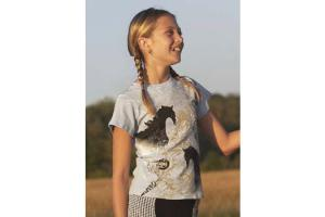 Kerrits Kids Horse-It Tee in Misty Blue
