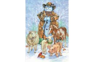 Cowboy Snowman Boxed Holiday Cards