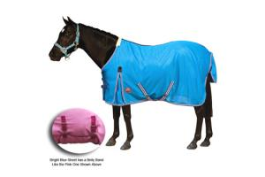 Weatherbeeta Pony Standard Neck Fly Sheet in Bright Blue