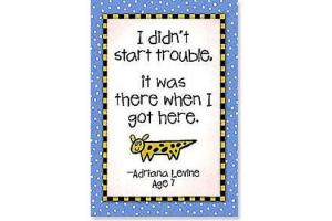 Kids Quips Magnet - I Didn't Start Trouble...