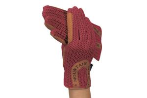 Mountain Horse Ladies Crochet Gloves in Rose