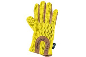 Mountain Horse Child's Crochet Gloves in Yellow