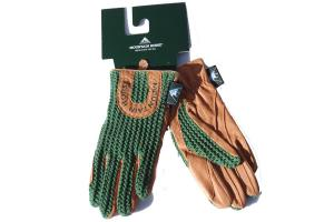 Mountain Horse Child's Crochet Gloves in Evergreen