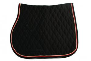 Rambo Grand Prix Show Jumping Saddle Pad in Black and Tan