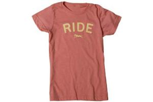 Stirrups Ride Vintage Tee Shirt in Coral