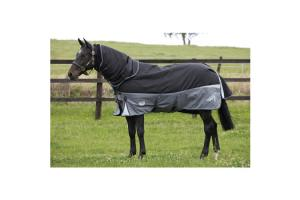 Weatherbeeta Freestyle 1680D 3-In-1 Detach-A-Neck Medium 220g Turnout in Black and Silver