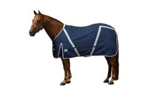 Weatherbeeta Continental Stable Sheet in Navy and Silver