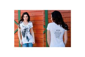 Cowgirls for a Cause Wild and Free Tee Shirt in White