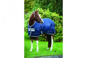 Amigo Pony Insulator Medium 200g Stable Blanket in Navy and Silver