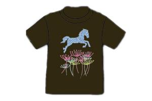 Wyo-Horse Big Leap Tee Shirt in Chocolate