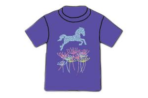 Wyo-Horse Big Leap Tee Shirt in Purple