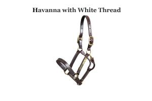 Walsh Havana Leather Laura Kraut British Halter with Throat Snap
