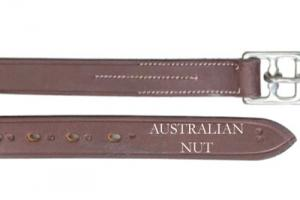 Ovation English Leather Half Hole Leathers in Australian Nut
