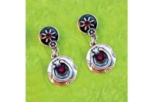 Wyo-Horse Free Spirit Horseshoe Earrings Purple