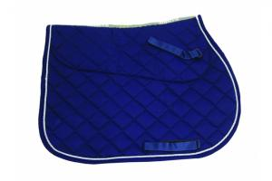 Rambo Grand Prix Show Jumping Saddle Pad in Navy and Beige