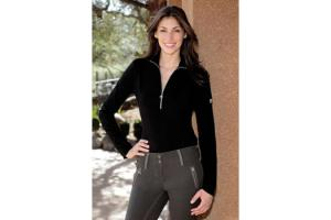 Goode Rider Long Sleeve Ideal Show Shirt in Black