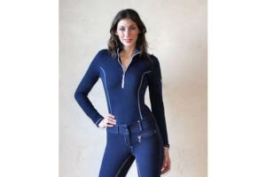 Goode Rider Long Sleeve Ideal Show Shirt in  Midnight Navy
