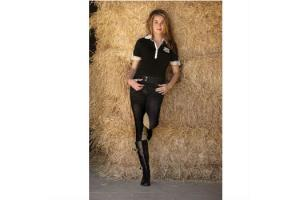 Goode Rider Jean Rider Knee Patch Breeches in Black Denim