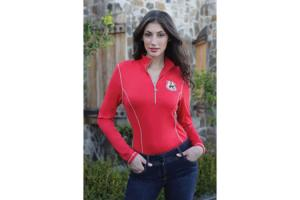 Goode Rider Long Sleeve Ideal Tech Shirt in Tomato