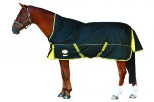 Weatherbeeta Orican Freestyle High Neck Medium 220g Turnout Blanket in Black and Gold