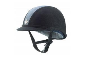 Charles Owen JR8 Junior Riding Helmet in Black and Charcoal