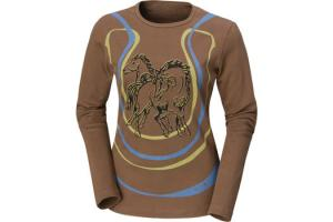 Kerrits Lucky Horse Tee Shirt  in Saddle Brown