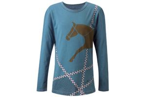 Kerrits Kids Finish Line Tee in Neptune