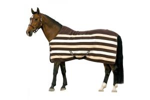 Rambo Newmarket Fleece in Witney Stripes/Chocolate