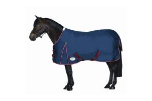 Weatherbeeta Pony Original 600D Standard Neck Medium 220g Turnout in Navy and Red
