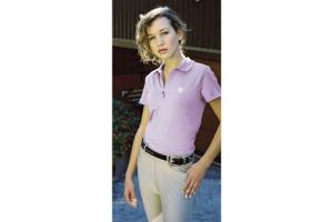 Romfh Ladies Cap Sleeve Polo Shirt in Lilac