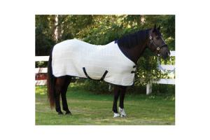 Shires Wessex Irish Knit Sheet in White and Navy