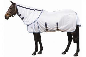 Weatherbeeta Supa-Fly Mesh Fly Sheet in White and Blue