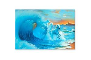 Waves Horse Magnet by Jim Warren