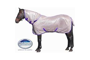 Weatherbeeta Genero Combo Neck Fly Sheet in Stone and Violet