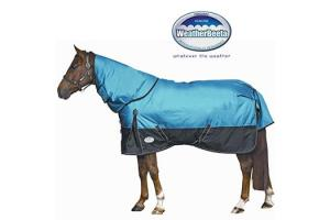 Weatherbeeta Original 1680D Detach-A-Neck Medium 220g Turnout in Aqua and Black