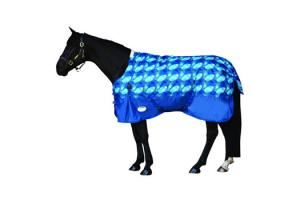 Weatherbeeta Original 600D Standard Neck Medium 220g Turnout in Blue Ovals